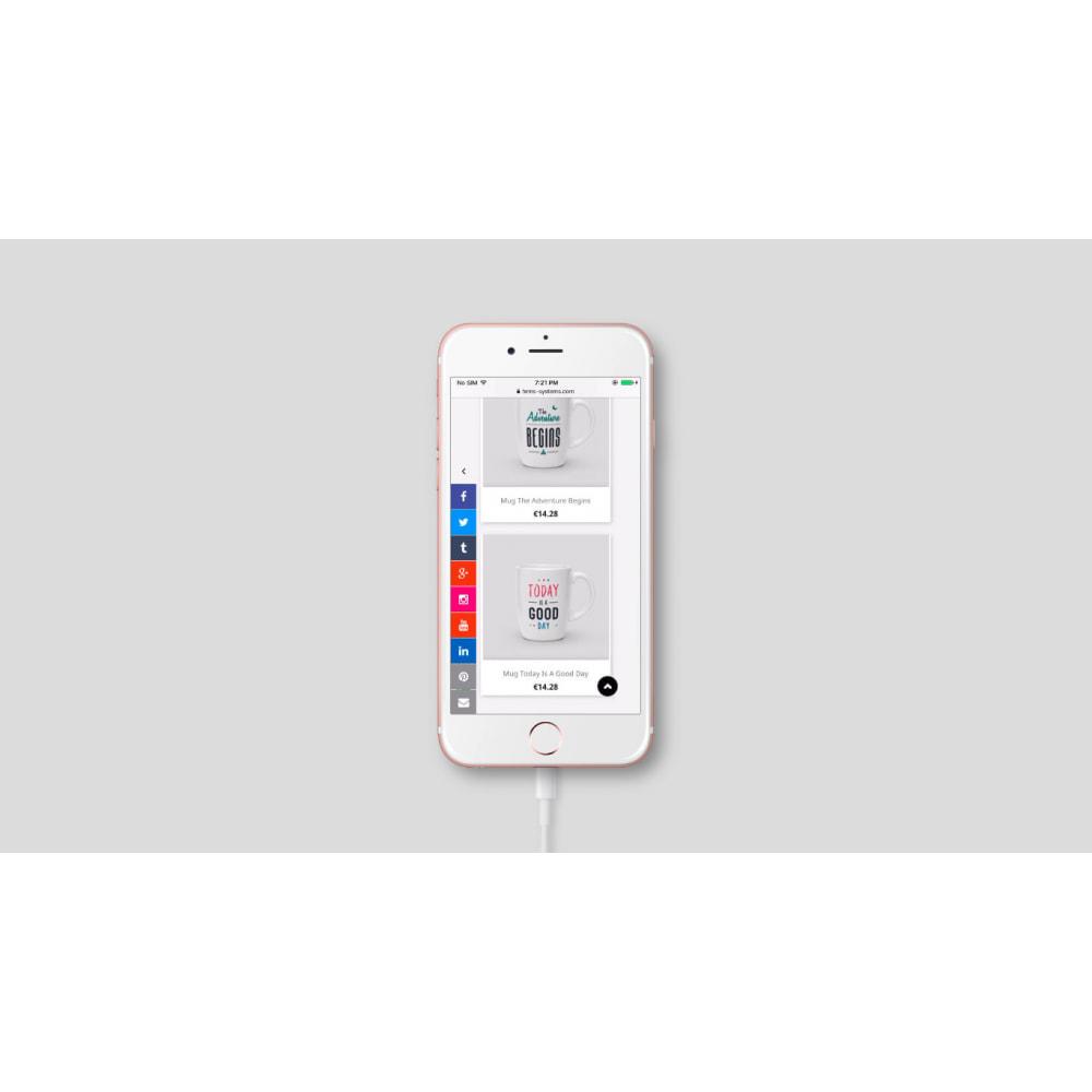 module - Widgets sozialer Netzwerke - Social Media Sidebar Links Buttons - 3