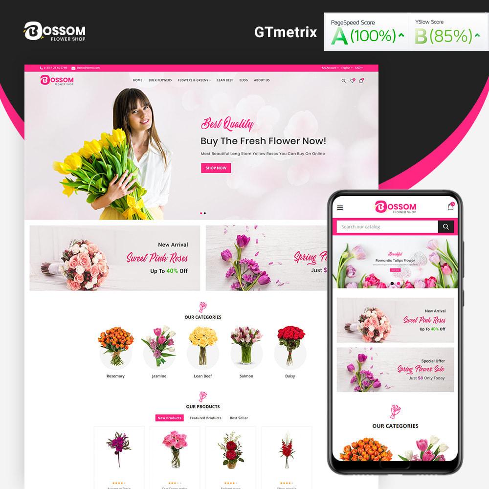 theme - Cadeaux, Fleurs et Fêtes - Bossom Flower Shop - 2