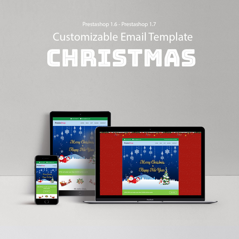 email - Modelos de e-mails da PrestaShop - Christmas - Template emails and for emails of module - 1