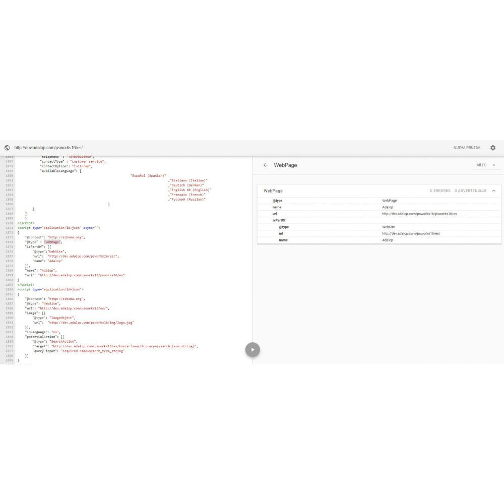 module - SEO (référencement naturel) - Intégration JSON-LD MICRODONNÉES et OPEN GRAPH - SEO - 17