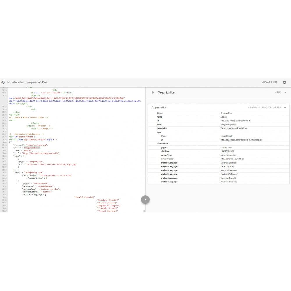 module - SEO (Indicizzazione naturale) - Integrazione completa MICRODATA e OPEN GRAPH - SEO - 9