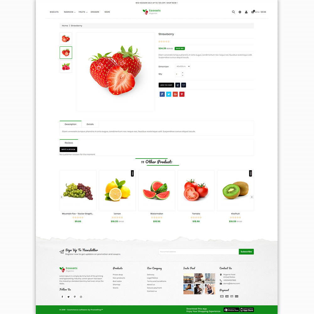 theme - Food & Restaurant - EcoEat - Organic Food & Agriculture - 5