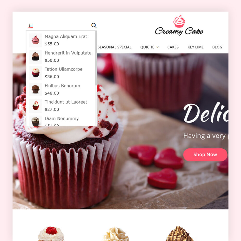 theme - Alimentation & Restauration - Creamy Cake Shop - 4