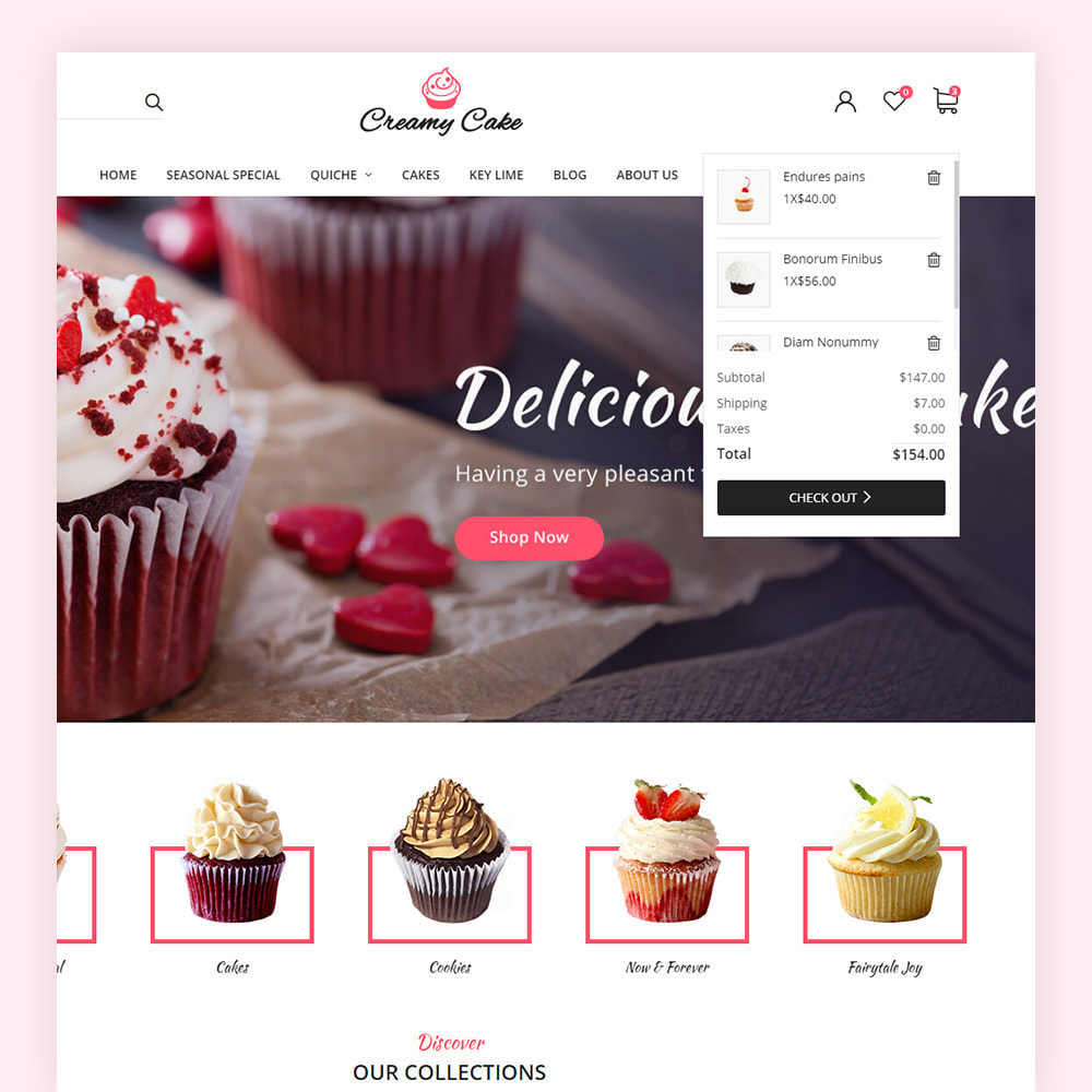 theme - Alimentation & Restauration - Creamy Cake Shop - 5