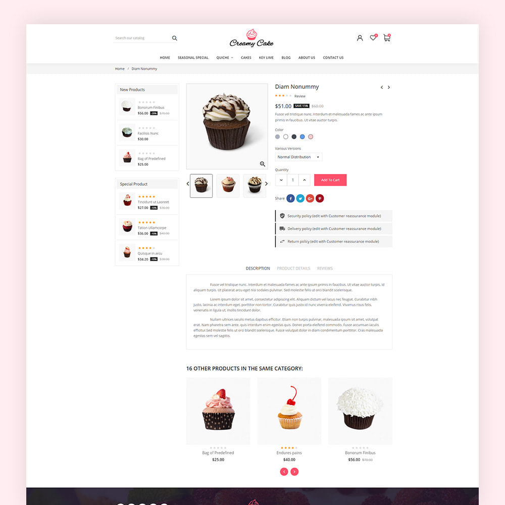 theme - Alimentation & Restauration - Creamy Cake Shop - 8