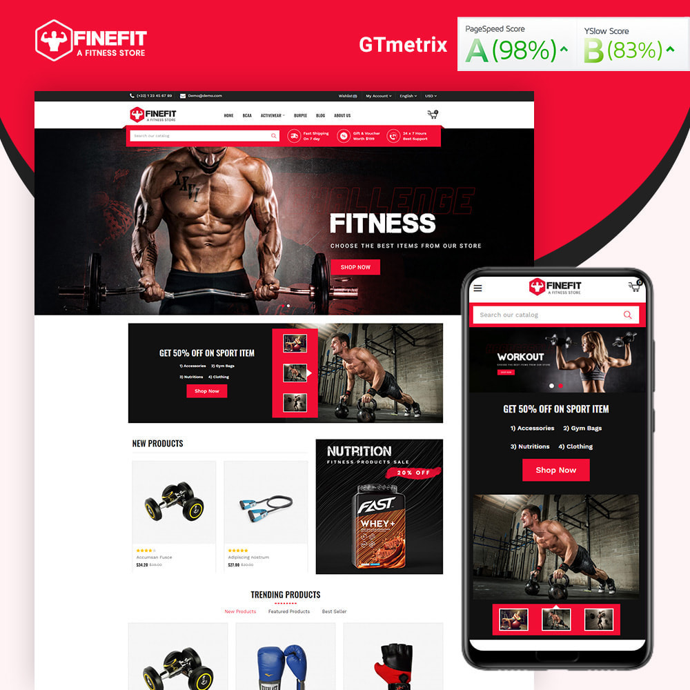 theme - Sport, Loisirs & Voyage - Finefit Fitness Store - 1