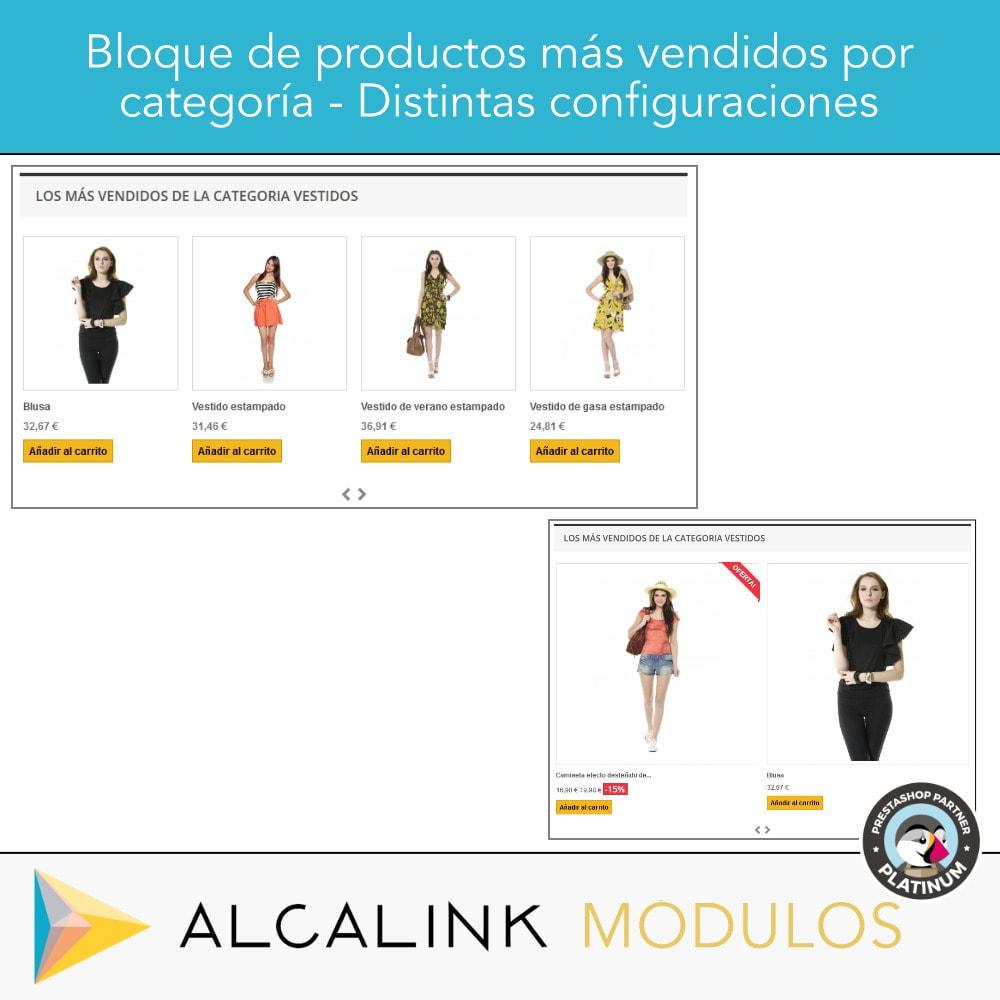 module - Bloques, Pestañas y Banners - Productos más vendidos POR CATEGORÍA - 4