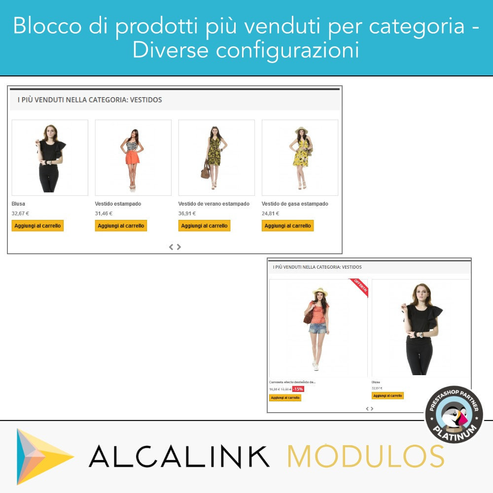 module - Blocchi, Schede & Banner - Prodotti più venduti PER CATEGORIA - 4