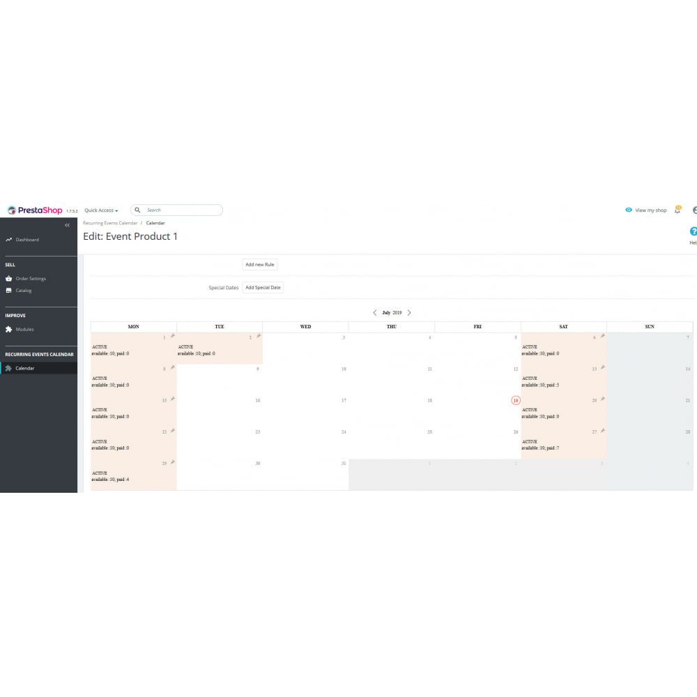 module - Web de Reservas y Alquiler - Recurring Events Calendar PRO, Sell Your Events Online - 6