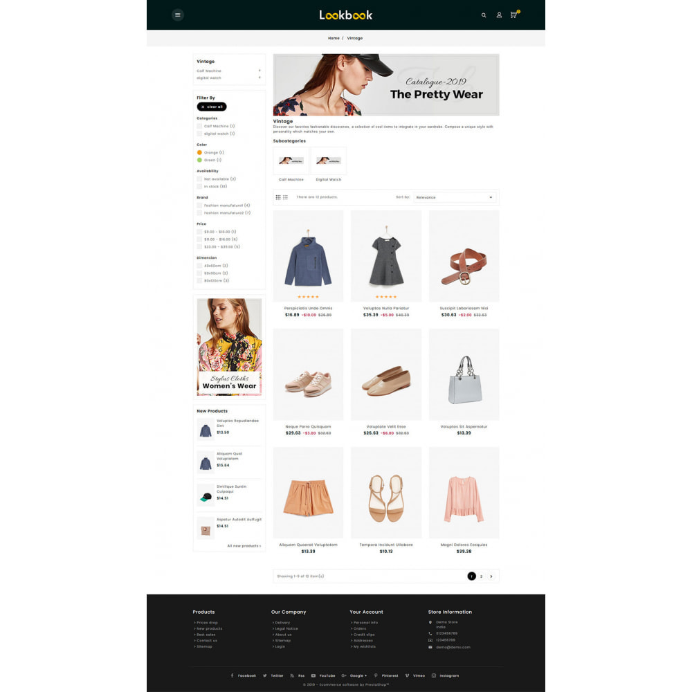 theme - Mode & Chaussures - Lookbook - Fashion Apparels - 3