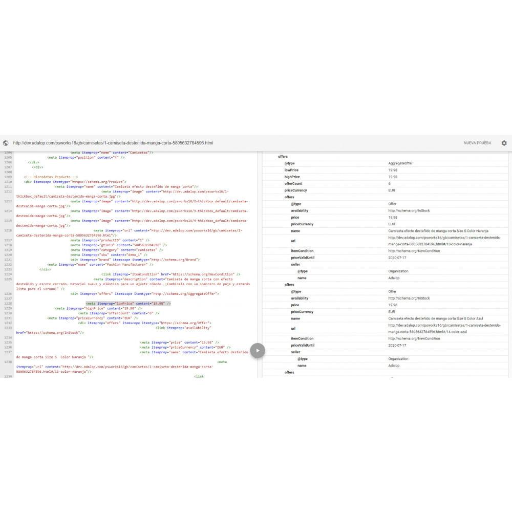 module - SEO (référencement naturel) - Intégration complète de MICRODATA et OPEN GRAPH - SEO - 17