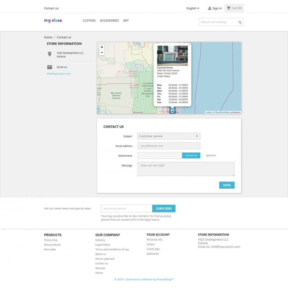 module - Personalizacja strony - Contact Map - 4