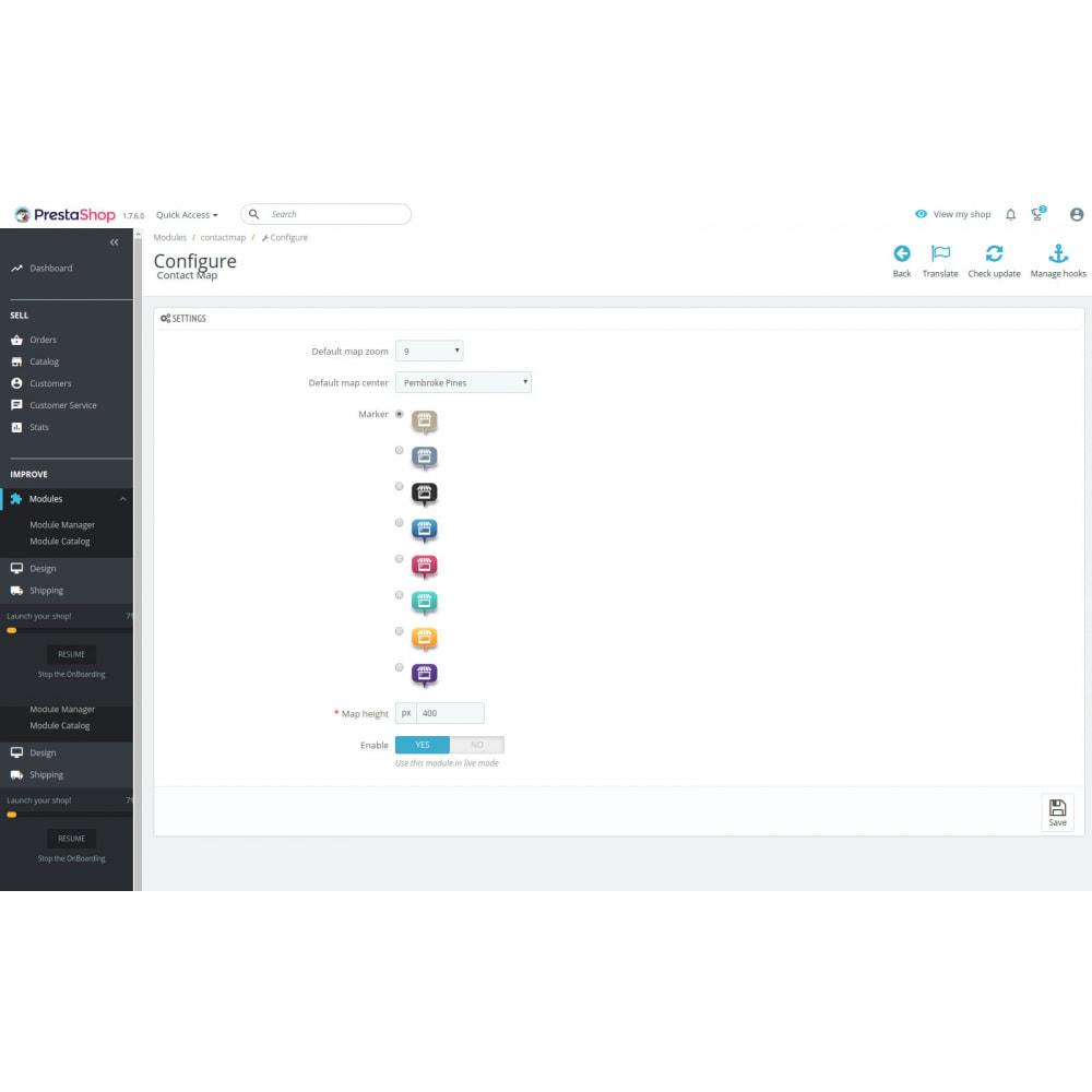 module - Personalizacja strony - Contact Map - 5
