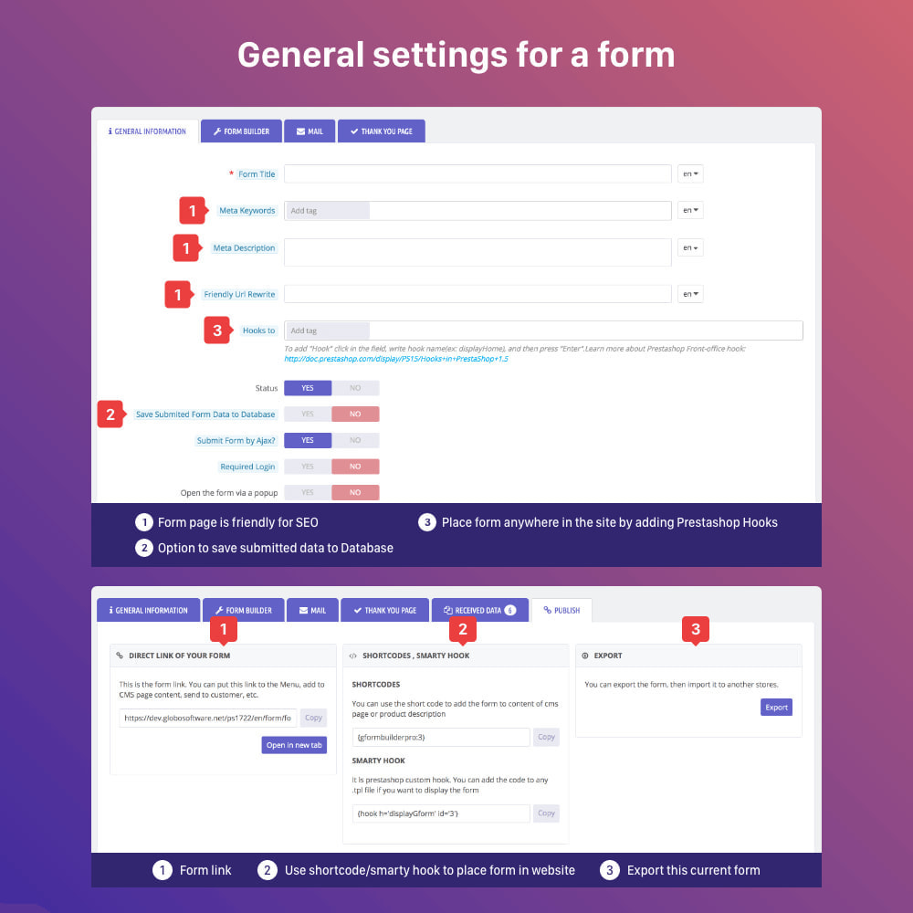 module - Форма обратной связи и Опросы - Form Builder - contact form, product, cms, quote Form - 7