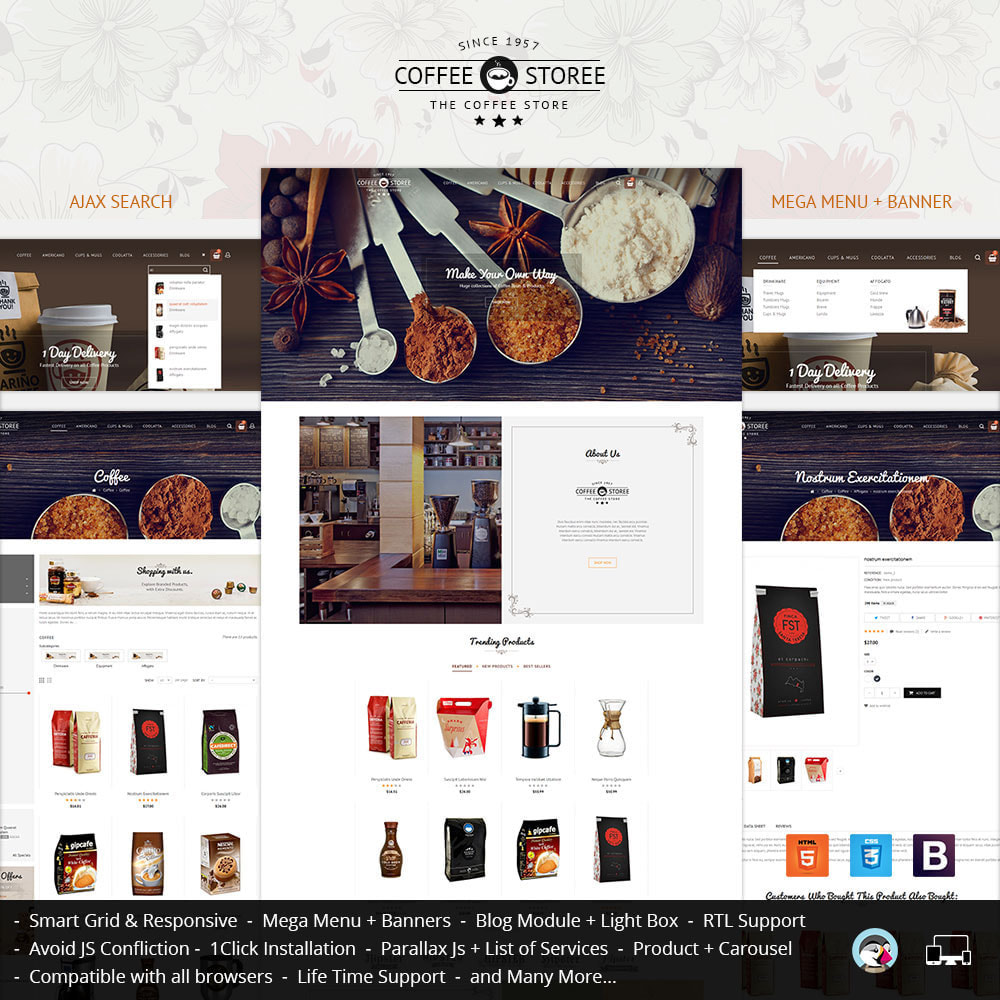 theme - Drink & Wine - Coffee Store - 2