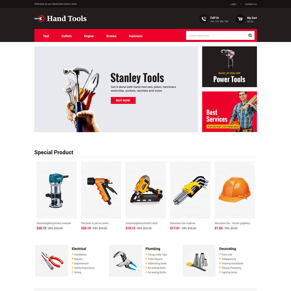 theme - Automotive & Cars - Hand Tools - Equipment Spare Part Store - 2
