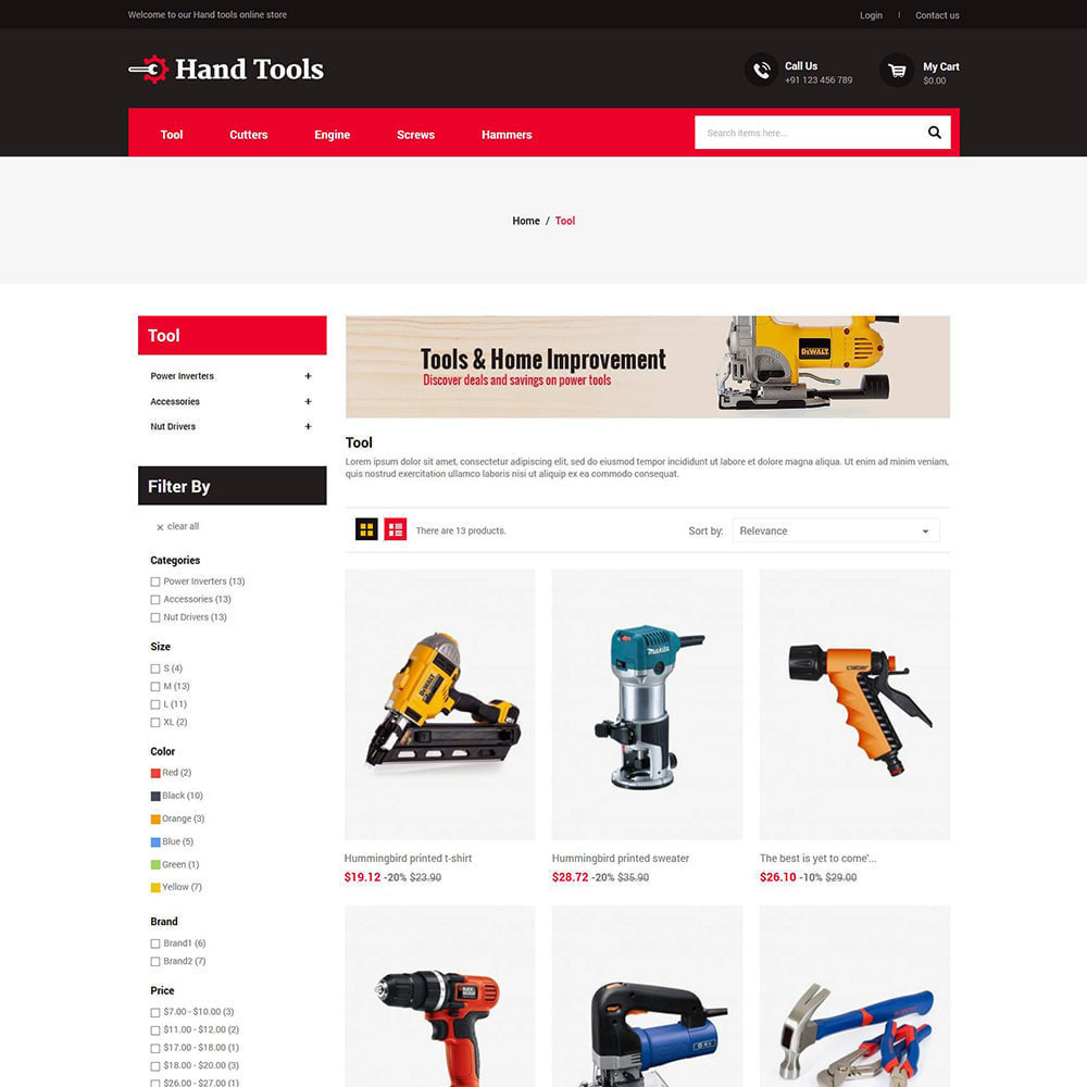 theme - Automotive & Cars - Hand Tools - Equipment Spare Part Store - 3