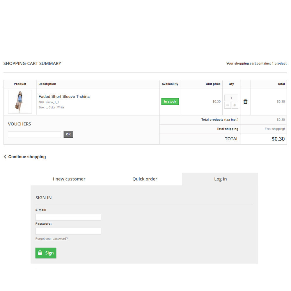 module - Registration & Ordering Process - Scheckout Fast Cart Checkout - 4