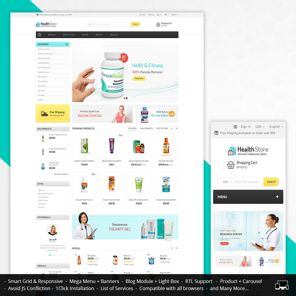 theme - Health & Beauty - Medicine Store - 1