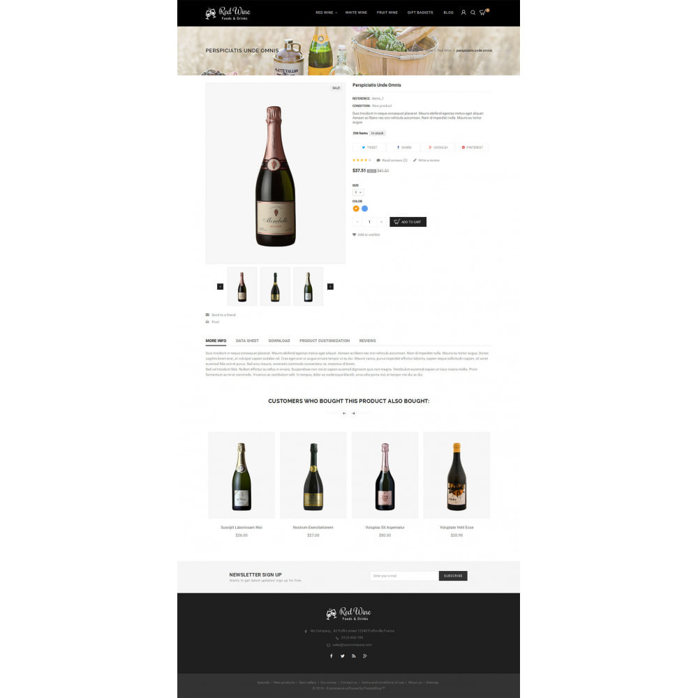 theme - Bebidas & Tabaco - Red Wine Store - 6