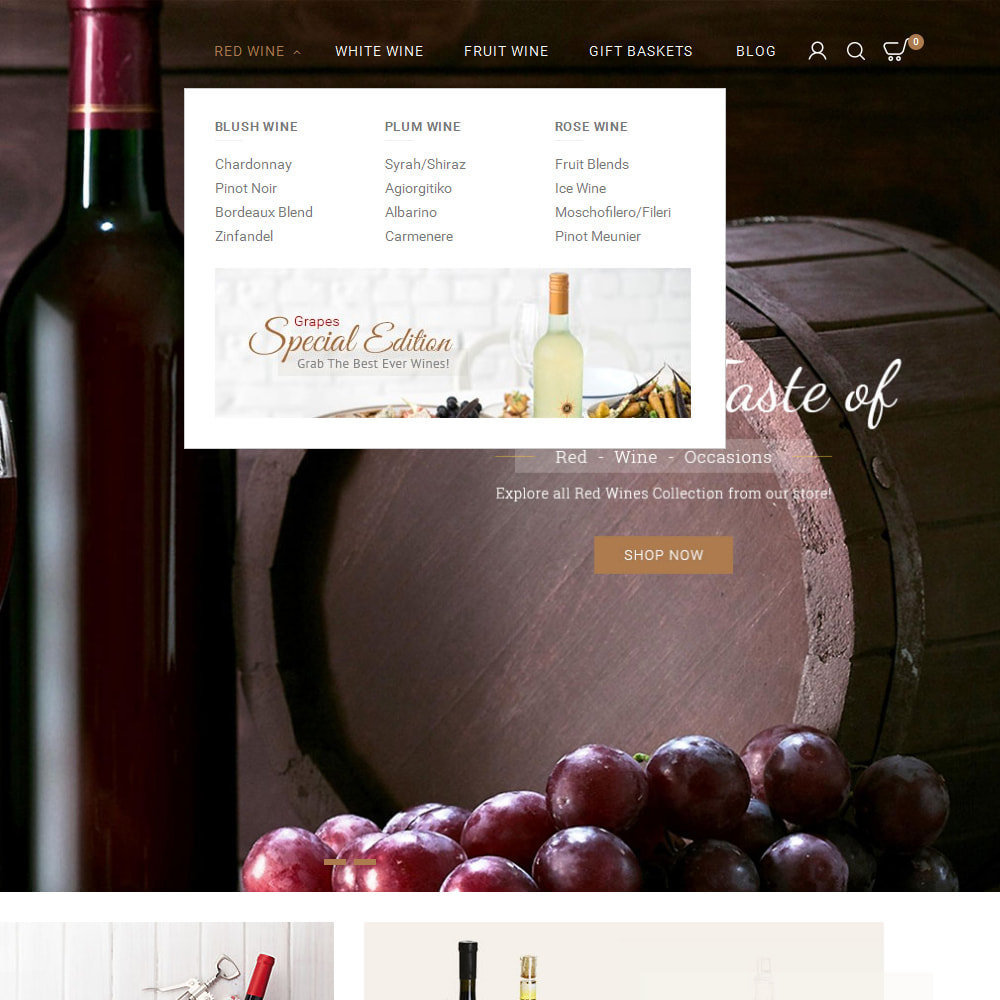 theme - Bebidas & Tabaco - Red Wine Store - 8
