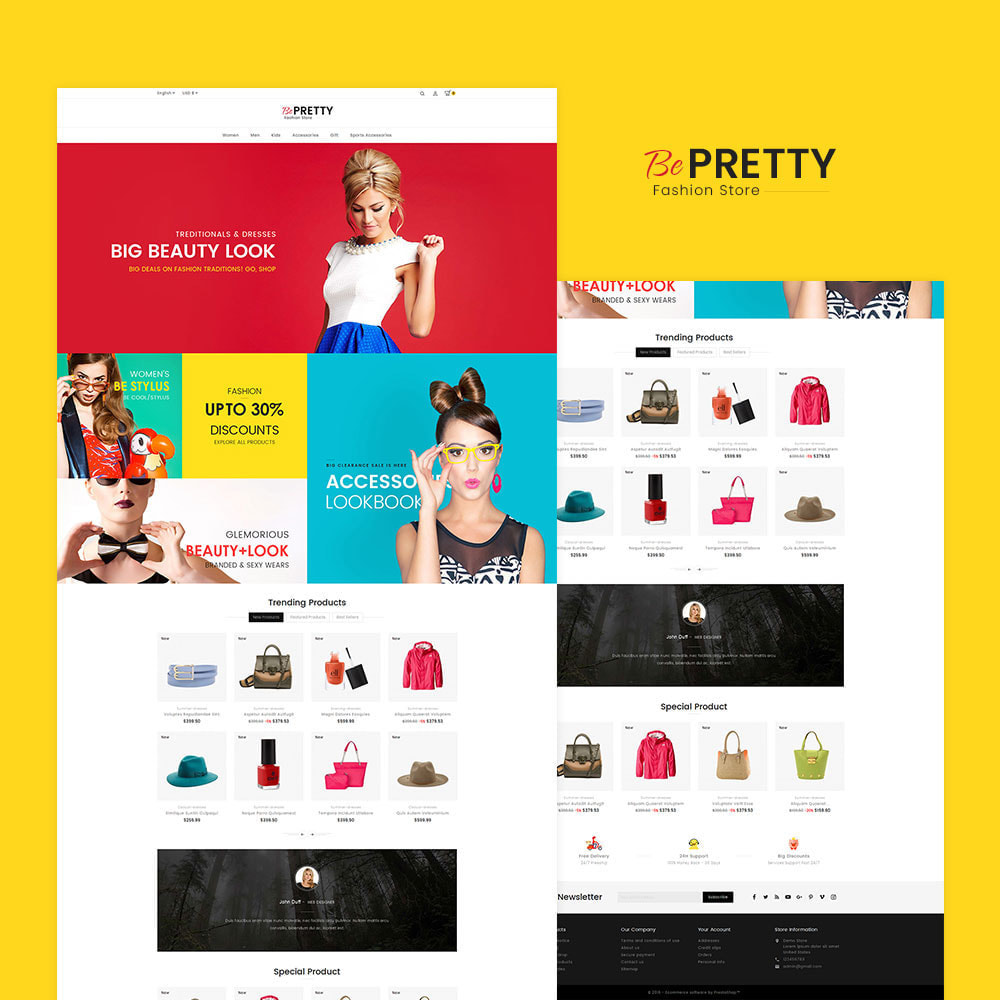 theme - Мода и обувь - BePretty Fashion Store - 2