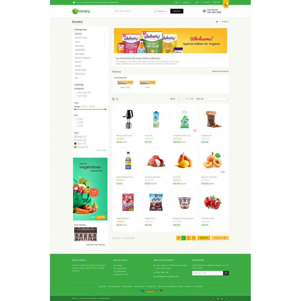 theme - Lebensmittel & Restaurants - Mega Grocery Store - 3