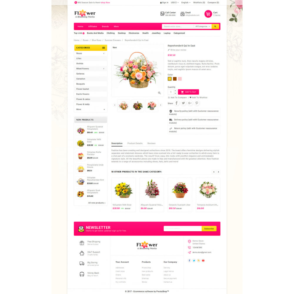 theme - Gifts, Flowers & Celebrations - Blooming Flower Mega Store - 5