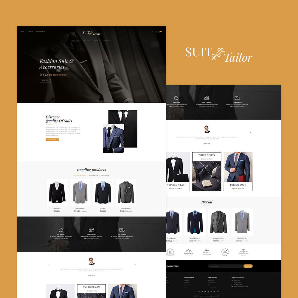 theme - Мода и обувь - Suit/Tailor Store - 2