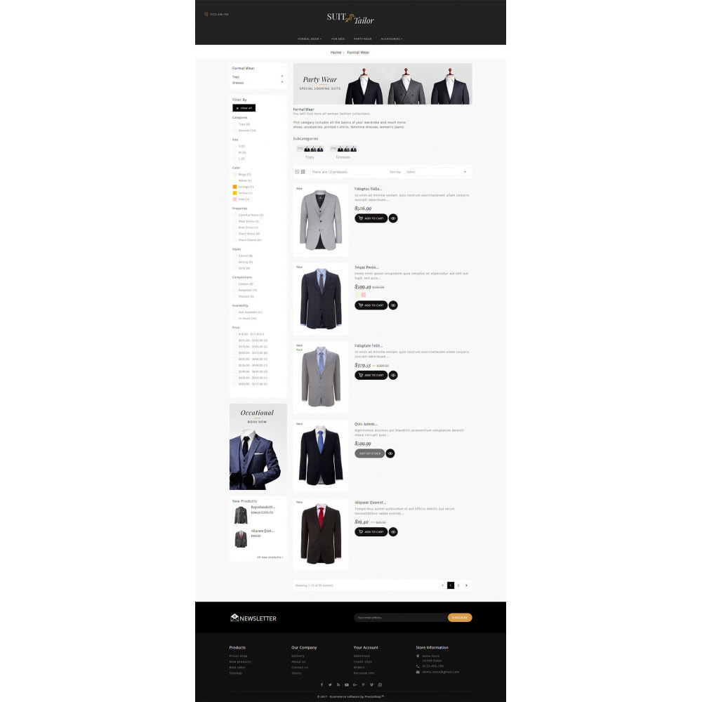 theme - Мода и обувь - Suit/Tailor Store - 4