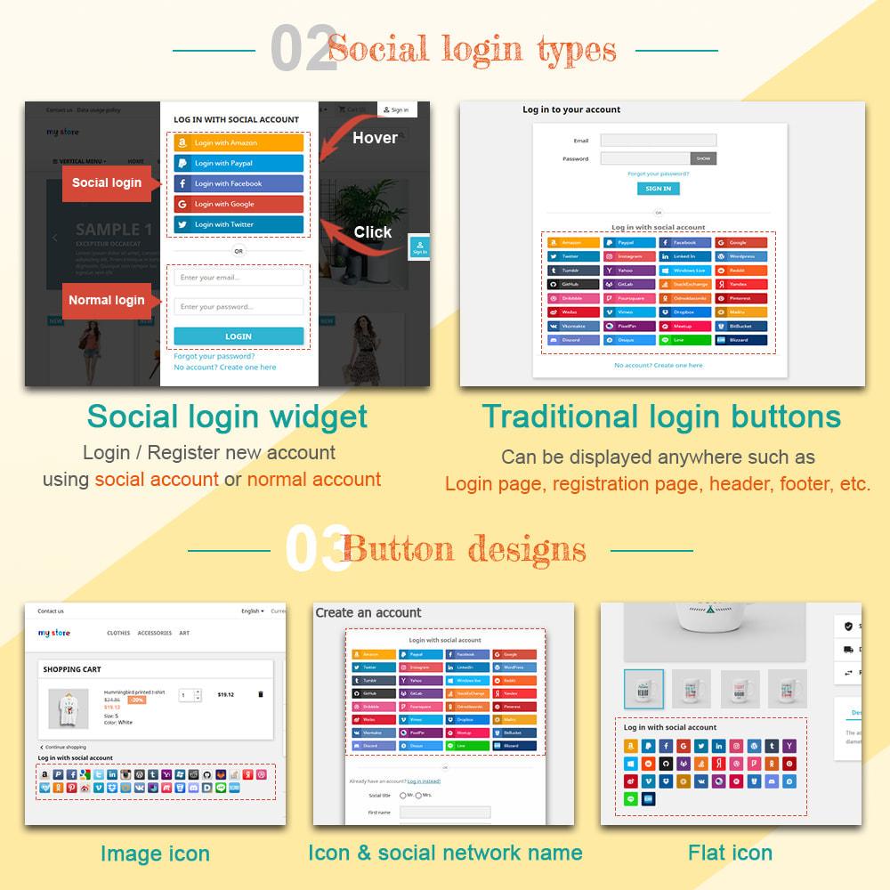 module - Логин / Подключение - SOCIAL LOGIN - 32+ social networks - 2