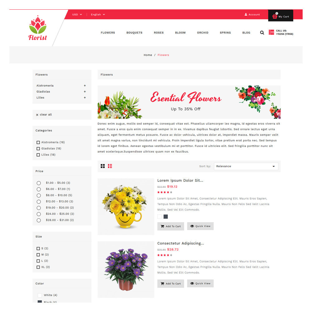 theme - Gifts, Flowers & Celebrations - Florist Flowers & Gifts Store - 4