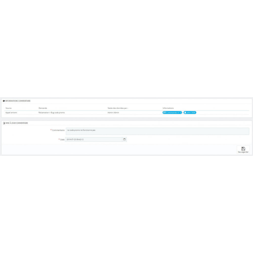 module - Connexion à un logiciel tiers (CRM, ERP...) - CRM client - 1