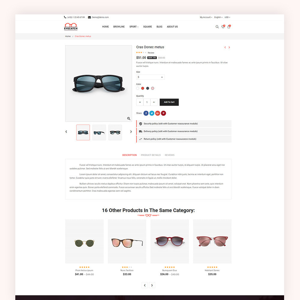 theme - Fashion & Shoes - Eyecatch Goggles Store - 6
