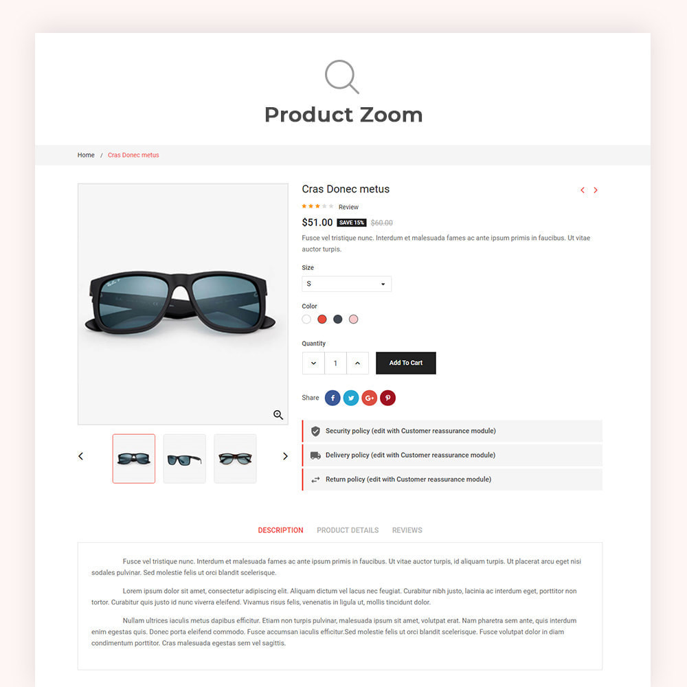 theme - Fashion & Shoes - Eyecatch Goggles Store - 7