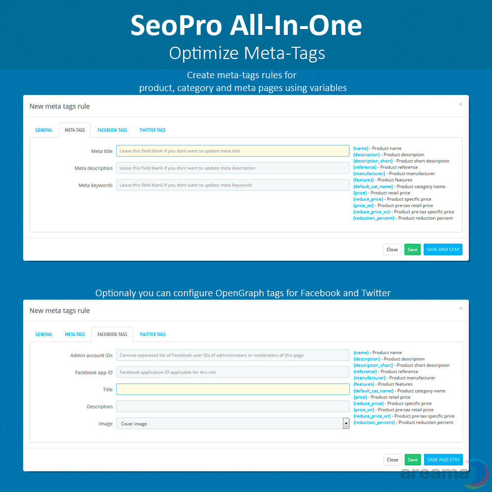 module - SEO (Referenciamento natural) - SEO Pro All-In-One. URL cleaner, redirects, sitemaps... - 8