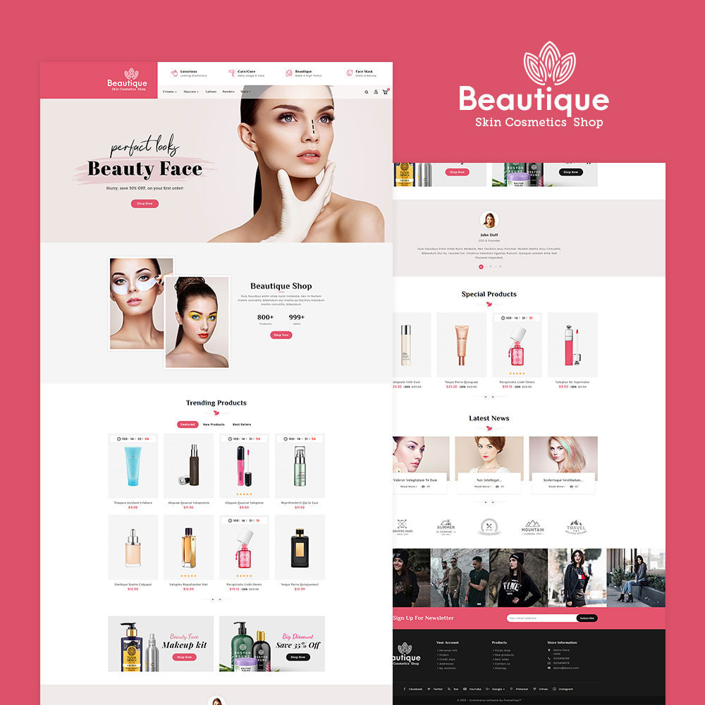 theme - Health & Beauty - Beautique Skin Cosmetics - 2