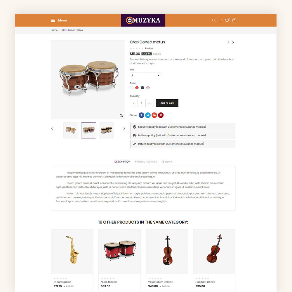 theme - Art & Culture - Muzyka Mugic Instruments Store - 7