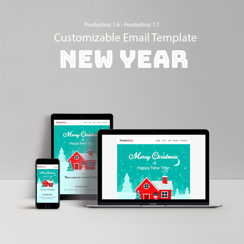 email - Templates d'e-mails PrestaShop - New Year - Email templates Customize - 1