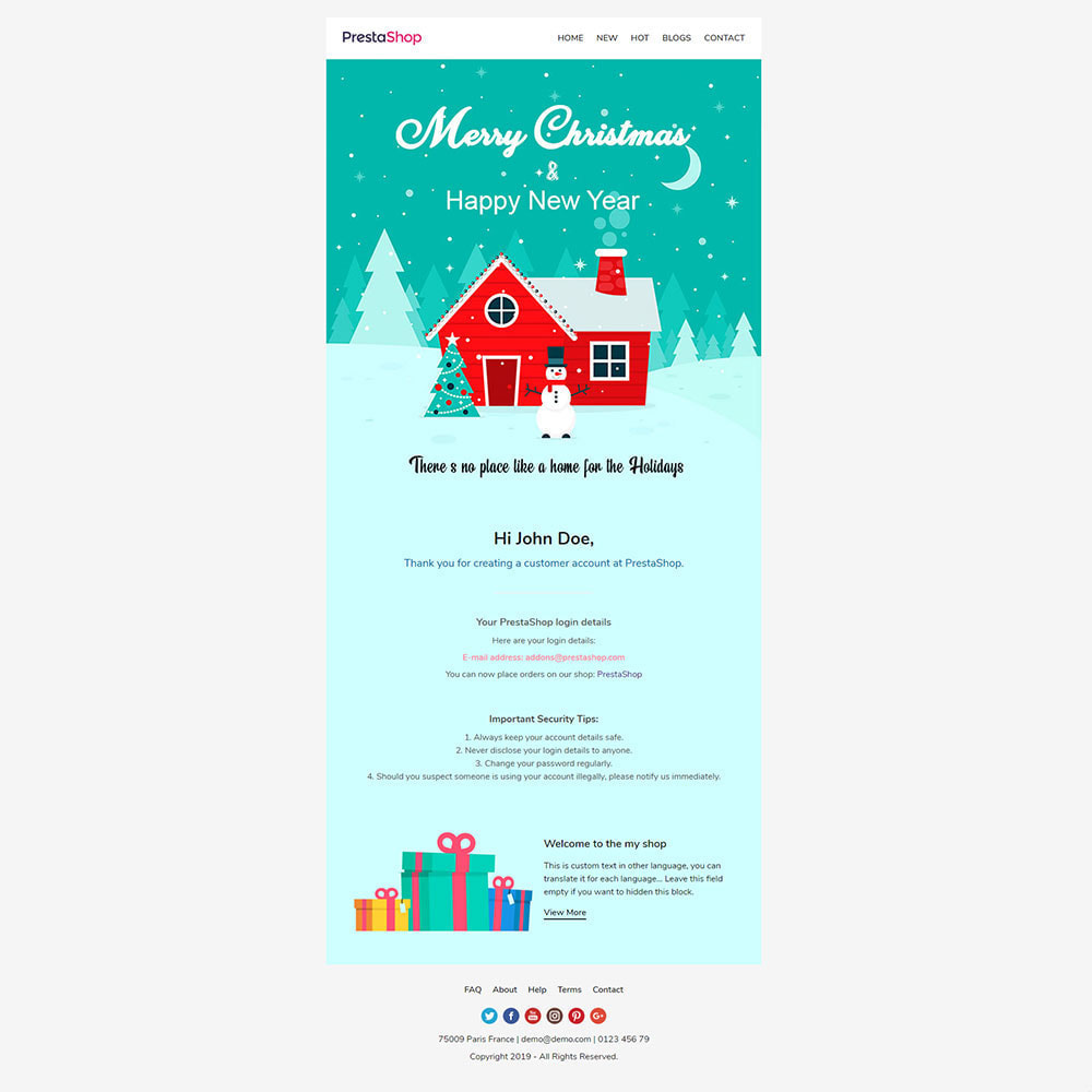 email - Templates d'e-mails PrestaShop - New Year - Email templates Customize - 3