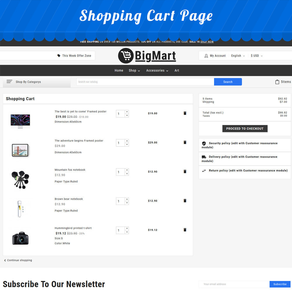 theme - Electronics & Computers - Fashion Store - Big Mart Template - 10