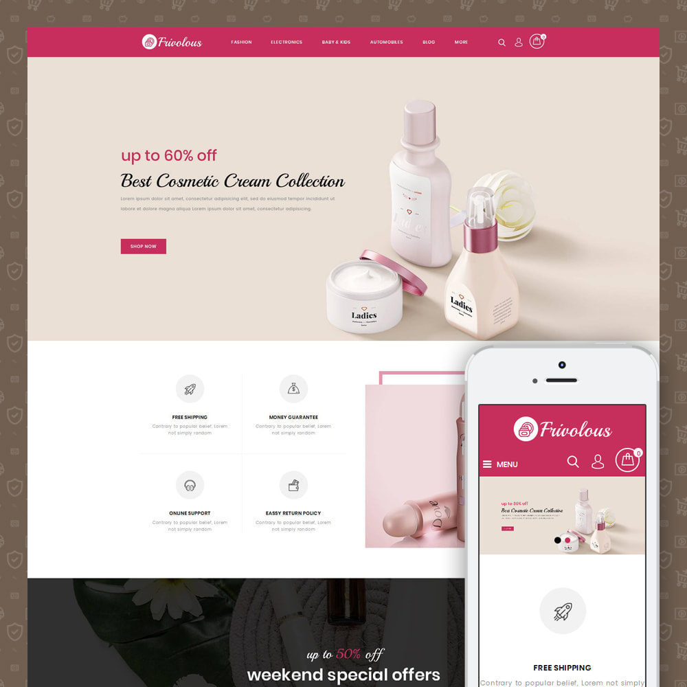 theme - Health & Beauty - Frivolous - Cosmetic Store - 1