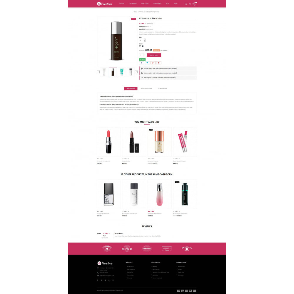 theme - Health & Beauty - Frivolous - Cosmetic Store - 5
