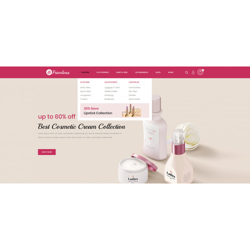 theme - Health & Beauty - Frivolous - Cosmetic Store - 6