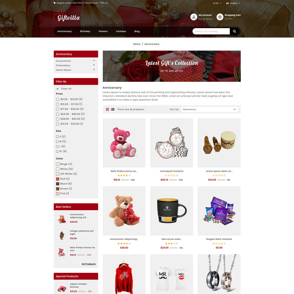theme - Gifts, Flowers & Celebrations - Giftvilla Gift Shop - 3