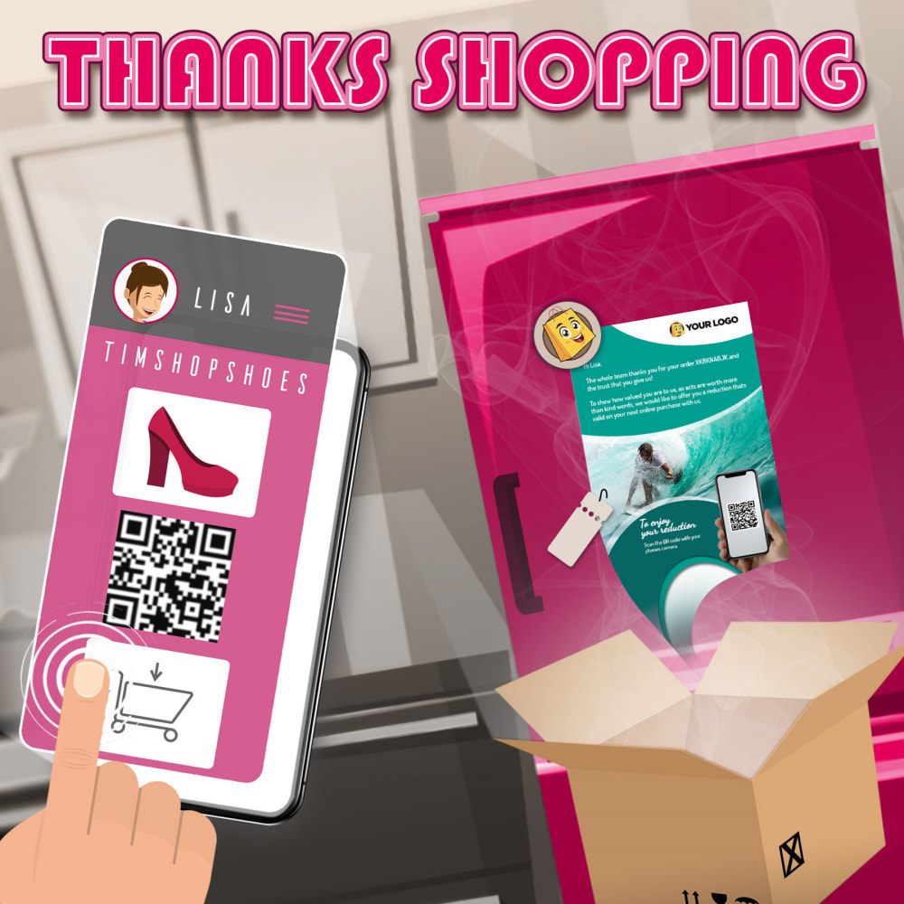 module - Fidélisation & Parrainage - Thanks shopping. Un Merci Efficace dans vos colis - 1