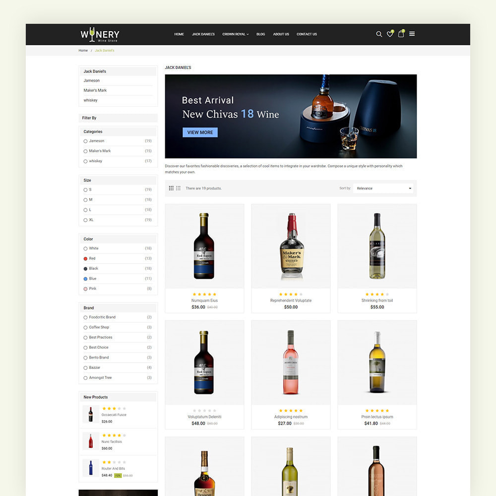 theme - Boissons & Tabac - Winery Wine Store - 6