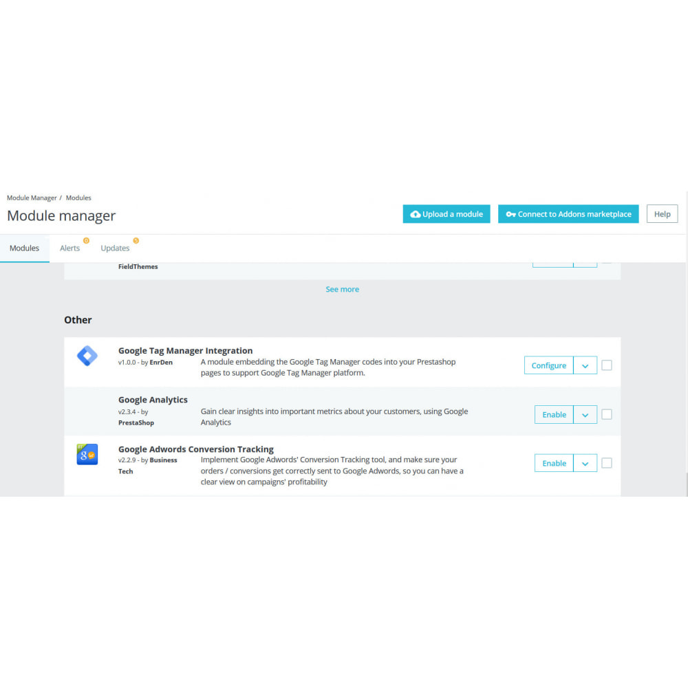 module - Статистика и анализ - Google Tag Manager Integration - 3