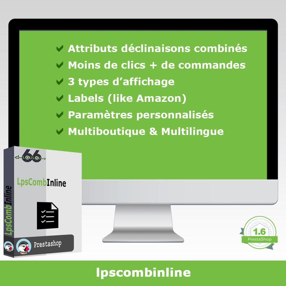 module - Déclinaisons & Personnalisation de produits - Groupes attributs déclinaisons produits (like Amazon) - 1