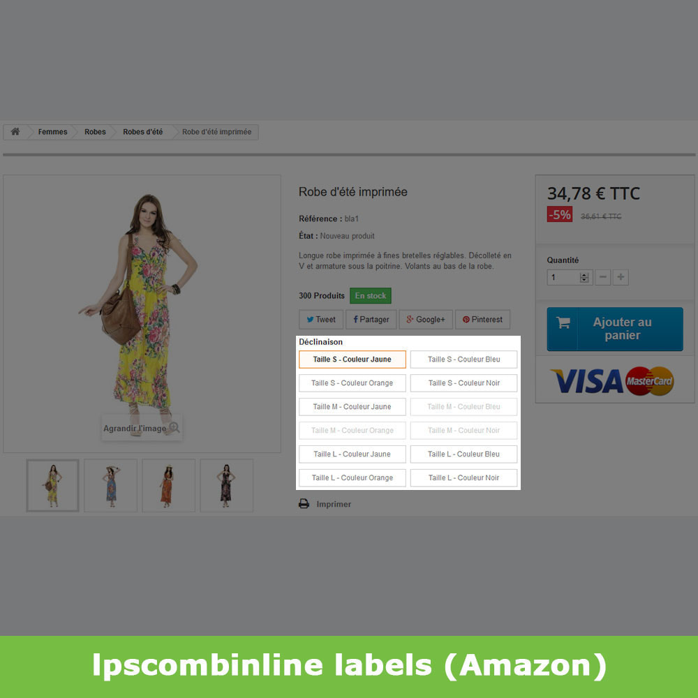 module - Deklinacje & Personalizacja produktów - Attribute groups product combinations (like Amazon) - 9